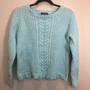 Lands End Drifter Cable Knit Sweater Petite Medium